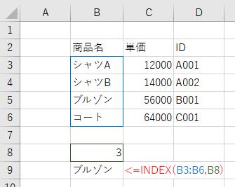 INDEX関数