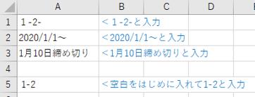 日付に合わせた文字列